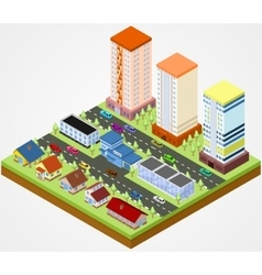 City block with police vector image