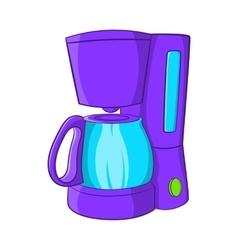 Coffee maker icon cartoon style vector
