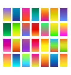 color gradients set vector image