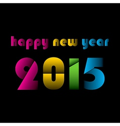 colorful cut design new year 2015 vector image