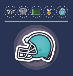 colorfull american football icon vector image
