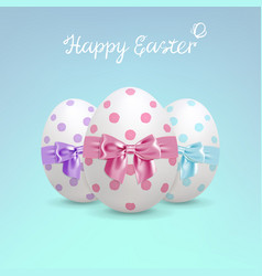 Decorated easter eggs vector