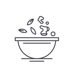 diet food line icon concept diet food vector image