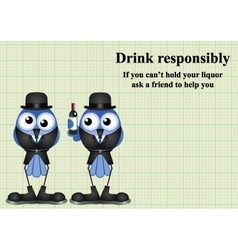 Drink responsibly message vector