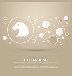 Eagle icon on a brown background with elegant vector
