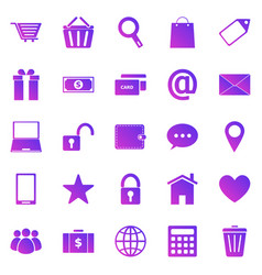 ecommerce gradient icons on white background vector image
