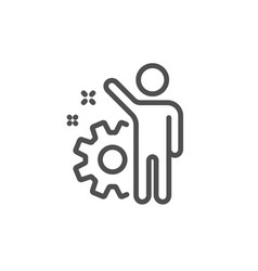 employee line icon business management sign vector image