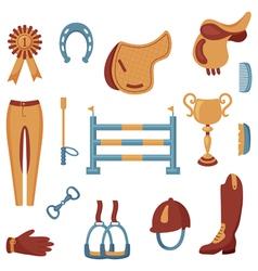 equestrian set vector image