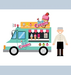 food truck ice cream vector image