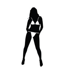 girl with bikini vector image