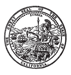 great seal state california vintage vector image