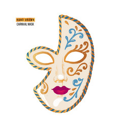 Hand drawn venetian carnival face mask vector