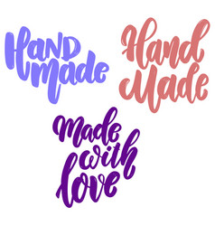 hand made set lettering phrase for postcard vector image