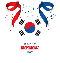 Happy korea republic independence day template vector