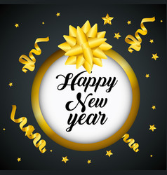Happy new year 2019 sticker decoration vector
