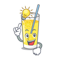 Have an idea lemonade mascot cartoon style vector