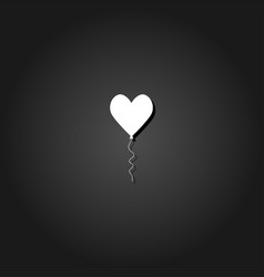heart balloon icon flat vector image