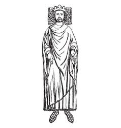 Henry iii of england vintage vector