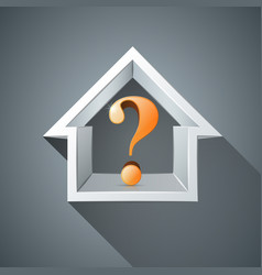 house question abstract 3d icon business vector image