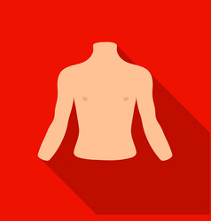 human back icon in flat style isolated on white vector image