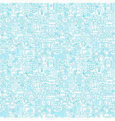 human resources white line seamless pattern vector image