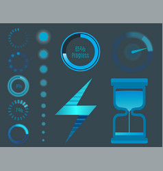 icons for mobile applications design web vector image