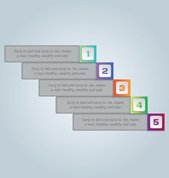 Infographics colorful five steps for workflow vector image