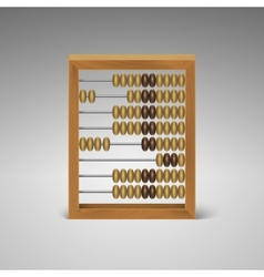 isolated retro light wood abacus for calculation vector image vector image