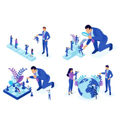 Isometric concepts employee selection career vector