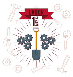 Labor day may eleven card vector