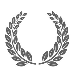 Laureate wreath - glory laurel wreath symbol vector