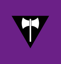 Lesbian feminist movement lgbt flat icon vector