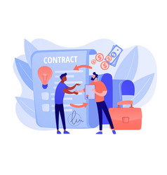 Licensing contract concept vector