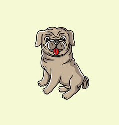 little dog cartoon vector image