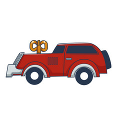 mechanic clockwork car toy for children vector image