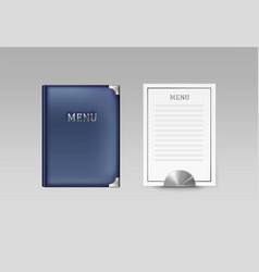 Menu book and card vector