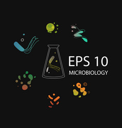 microbiology research center microorganisms and vector image