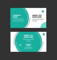 Minimalist style business card vector