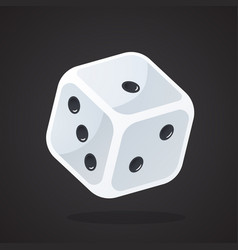 one gambling dice vector image