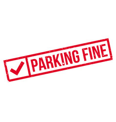 Parking fine rubber stamp vector