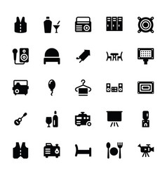 Party supplies glyph icons set vector