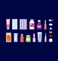 pharmaceutical medications pharmacy bottle vector image