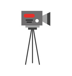 professional recording camera vector image