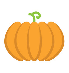 Pumpkin flat icon fruit and vegetable vector