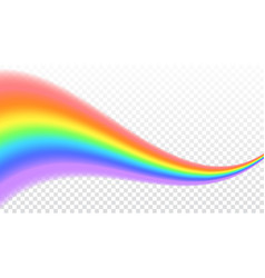 rainbow icon shape wave realistic isolated on vector image