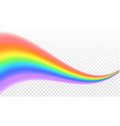 rainbow icon shape wave realistic isolated vector image