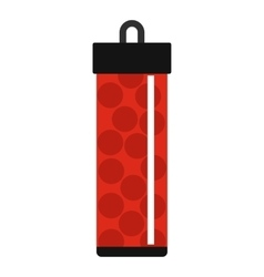 Red pack with paintball bullets icon flat style vector