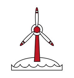 renewable energy source icon image vector image
