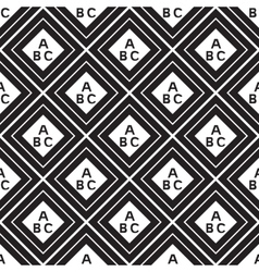 seamless pattern of squares inside the letters vector image