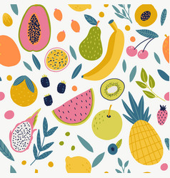 seamless pattern with tangerine vector image